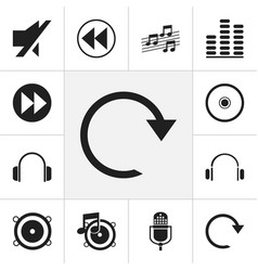 Set of 12 editable multimedia icons includes vector