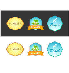 set of emblem with summer vector image