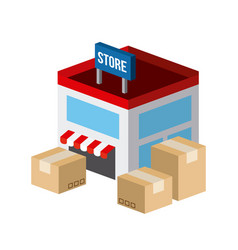 Shopping isometric icons design vector