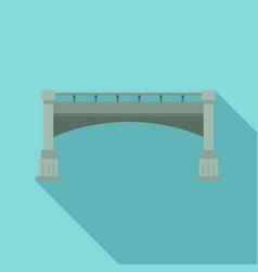 small bridge icon flat style vector image