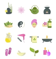 Spa beauty icons collection vector image