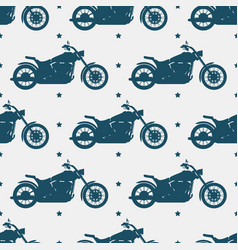 sport motorbike silhouette and seamless pattern vector image
