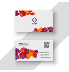Stylish colorful circles business card design vector