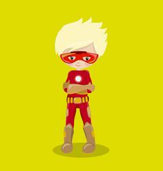 Super hero boy blond ironman 05 vector