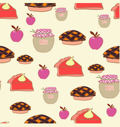 Table set for thanksgiving repeat seamless pattern vector