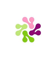 Techno symbol abstract circle color logo vector