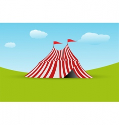 tent with flag vector image