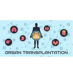 transplantation vector image