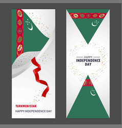 Turkmenistan happy independence day confetti vector