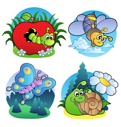 Various cute insect images 1 vector