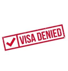 Visa Denied rubber stamp vector