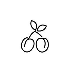 web line icon plum black on white background vector image