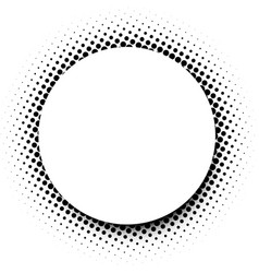 White round background with black dotted pattern vector