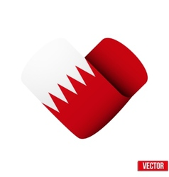 Flag icon in the form of heart I love Bahrain vector image vector image