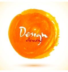 Bright orange watercolor circle vector image