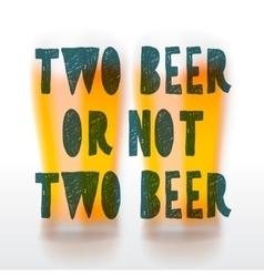 Drink beer poster vector