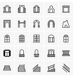 Entrances and windows vector image
