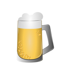 isolated beer mug vector image