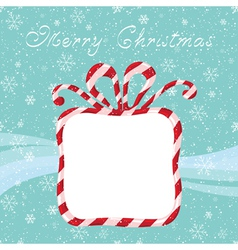 Candy gift card vector image vector image