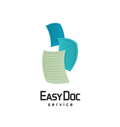 Docs logo Flying sheets of paper vector image vector image