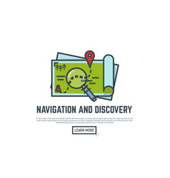 navigation and discovery vector image vector image