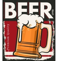 Poster retro beer vector image