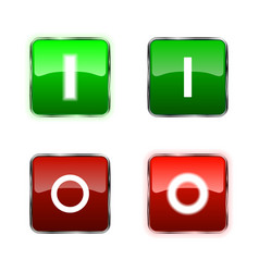 Power switch icons buttons vector