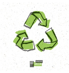 reuse symbol white paper vector image vector image
