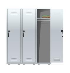 School lockers vector image