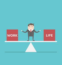 work and life balance vector image