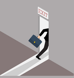 Business solution or exit strategy vector