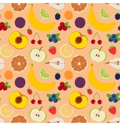 Fruits and berries seamless pattern 5 vector image vector image