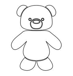 little bear black color path icon vector image vector image