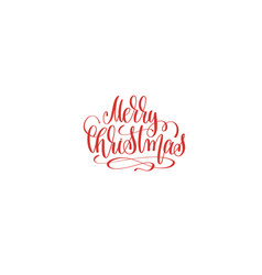 merry christmas hand lettering holiday inscription vector image vector image