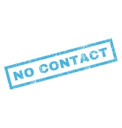 No contact rubber stamp vector