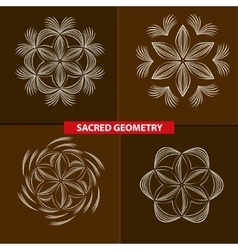 Sacred symbols and geometry for tattoo vector