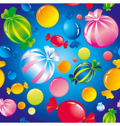 Seamless sweets and sugar candies vector image vector image