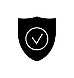 secure shield icon black vector image