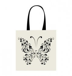 shopping bag design vintage butterfly vector image vector image
