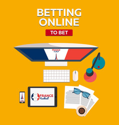 sport predictions betting online football online vector image