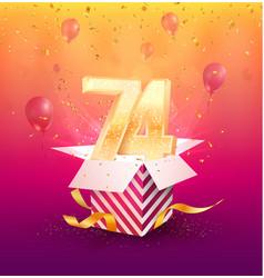 74th years anniversary design element vector