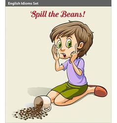 A girl spilling the beans vector