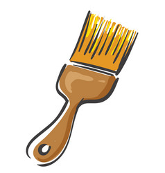 a yellow paint brush or color vector image