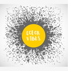 Abstract background with grey and yellow trendy vector