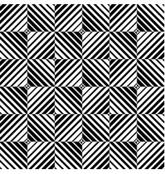 Abstract monochrome pattern with squares vector