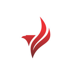 abstract red eagle graphic logo icon vector image