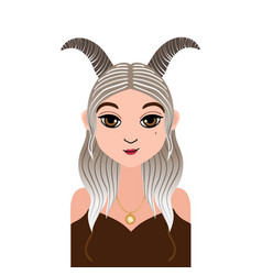 Astrology symbol zodiac sign capricorn in vector