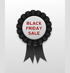Black friday sale ribbon award badge on background vector