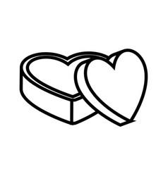 Box in heart shape vector