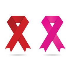 Brest cancer awareness symbol vector